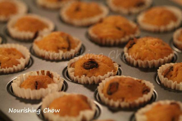 Carrot and sultana mini muffins