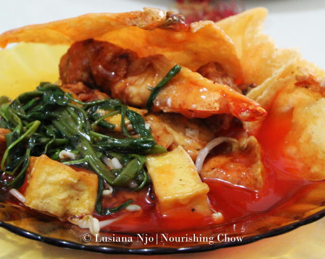 Tau Kua He Ci, Sweet and Sour Tofu and Prawn