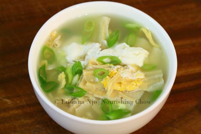 Savoury Tofu Skin Egg Soup