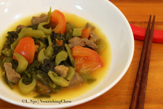 Braised Kiam Chai and Pork
