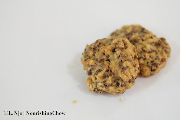 Flaxseed and Oatmeal Cookies