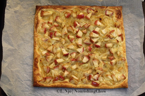 Apple and onion tart