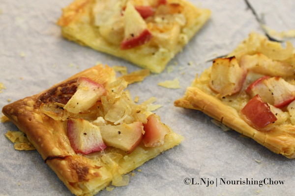 The last three slices of the apple and onion tart