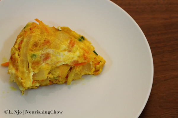 Onion and carrot frittata