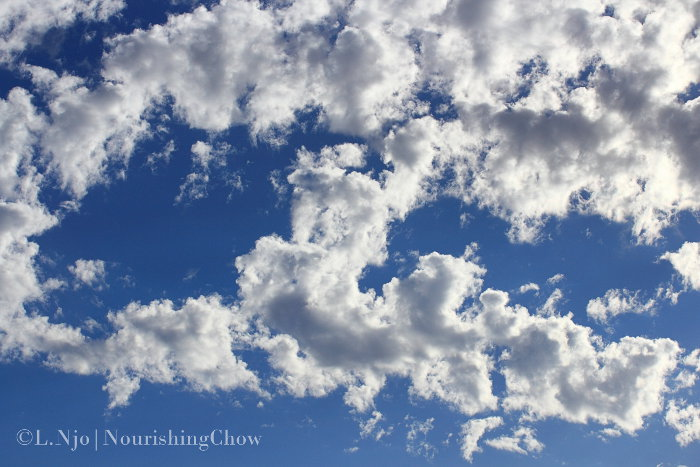 clouds sunlight