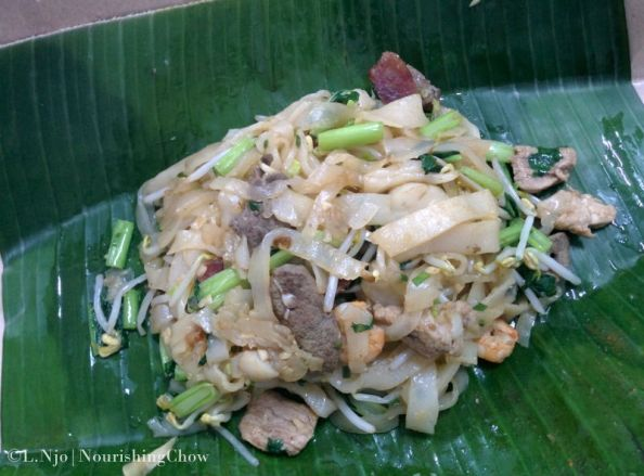 medan char kway teow, stir fried rice noodle