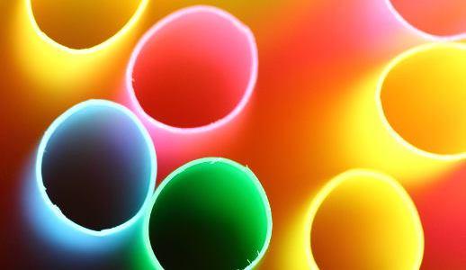 drinking straws, up close, macro
